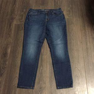 Old Navy Curvy Mid-Rise Dark Wash Skinny Jeans